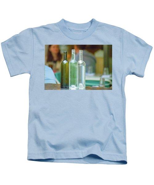 Water Bottles At New York Brasserie No 2 Kids T-Shirt