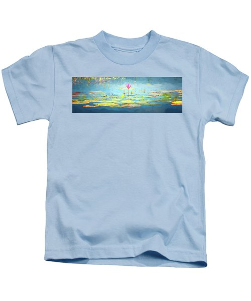 Water Lily - Tribute To Monet Kids T-Shirt