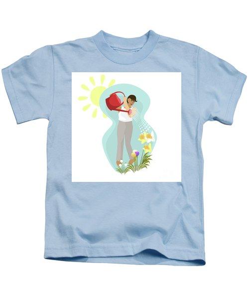 Watering Plants Kids T-Shirt