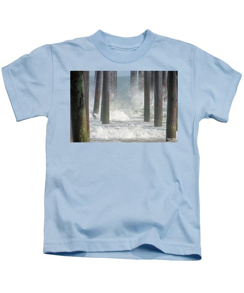 Waves Under The Pier Kids T-Shirt