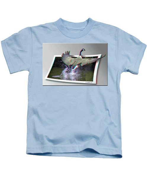 We Have Liftoff - Use Red-cyan 3d Glasses Kids T-Shirt