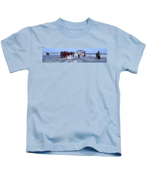 Wedding Complete Panoramic Kenya Beach Kids T-Shirt by Exploramum Exploramum