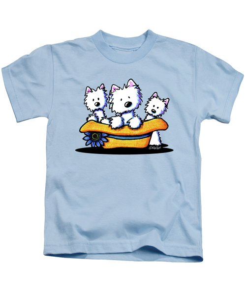 Westie Hat Trio Kids T-Shirt