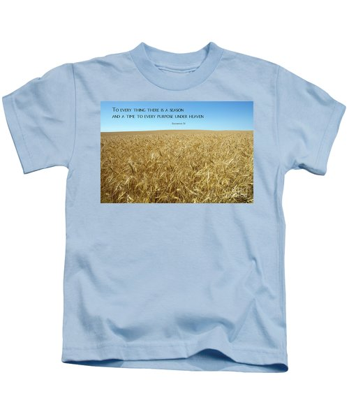 Wheat Field Harvest Season Kids T-Shirt
