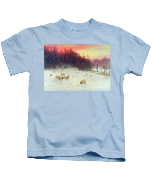 When The West With Evening Glows Kids T-Shirt