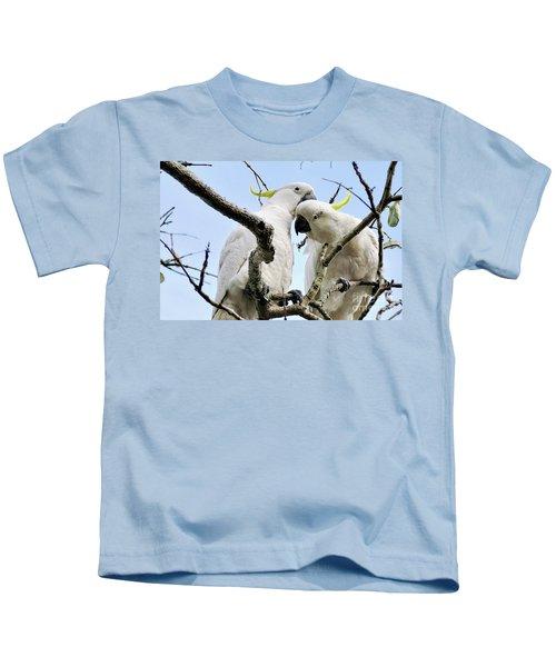 White Cockatoos Kids T-Shirt