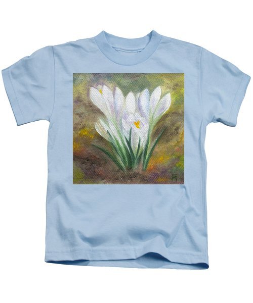 White Crocus Kids T-Shirt