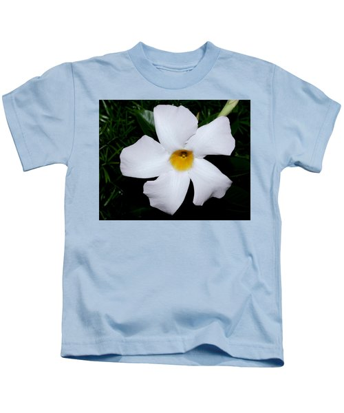 White Mandevilla Kids T-Shirt