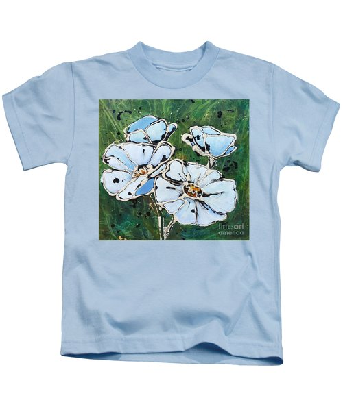 White Poppies Kids T-Shirt