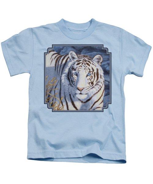 White Tiger - Crystal Eyes Kids T-Shirt