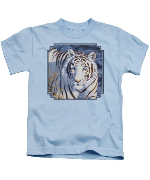 White Tiger - Crystal Eyes Kids T-Shirt
