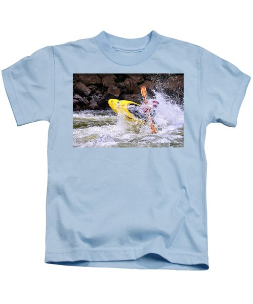 Whitewater On The New River Kids T-Shirt