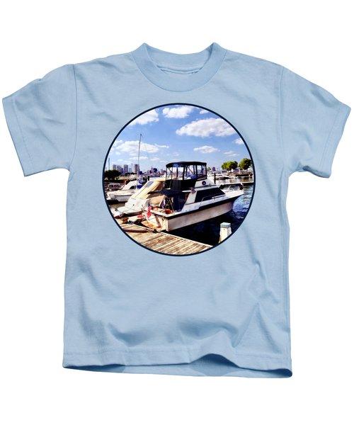 Wiggins Park Marina Kids T-Shirt by Susan Savad