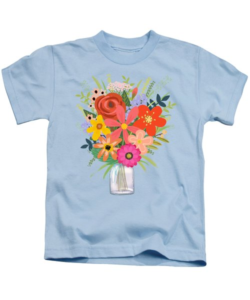 Wildflower Bouquet Kids T-Shirt