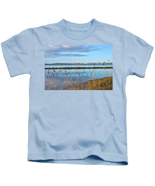 Windmills On A Windless Morning Kids T-Shirt