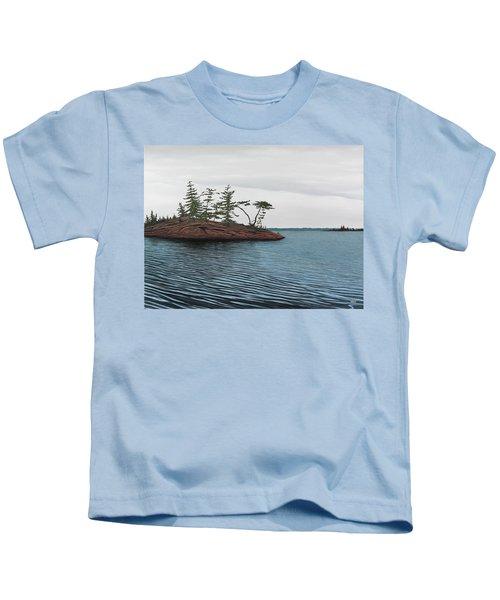 Windswept Island Georgian Bay Kids T-Shirt