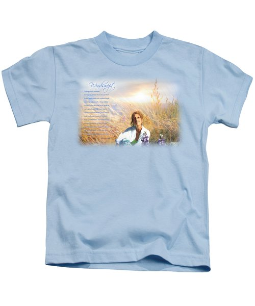 Windswept Poem Kids T-Shirt