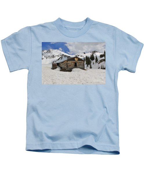 Winter At The Boston Mine Kids T-Shirt