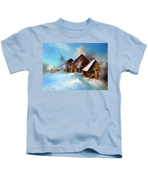 Winter Cortyard Kids T-Shirt