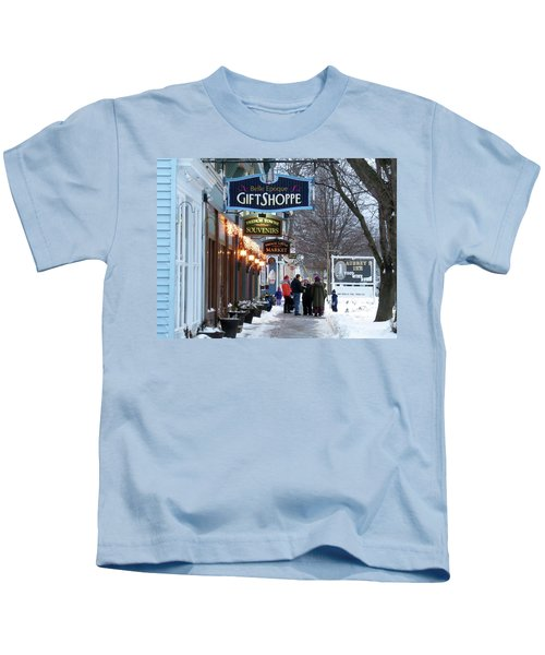 Winter In Cape Vincent Kids T-Shirt