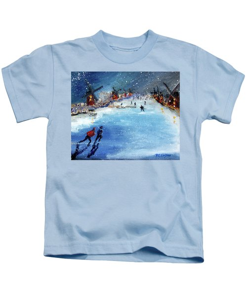 Winter In The Netherlands Kids T-Shirt