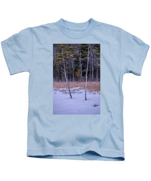 Winter Marsh And Trees Kids T-Shirt