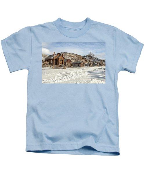 Winter On Main Street Kids T-Shirt