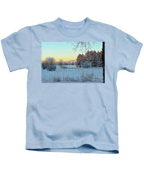 Winter On The Tree Farm Kids T-Shirt