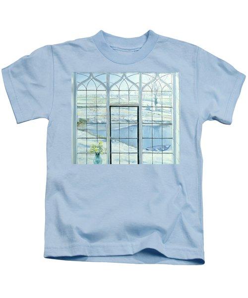 Winter Triptych Kids T-Shirt