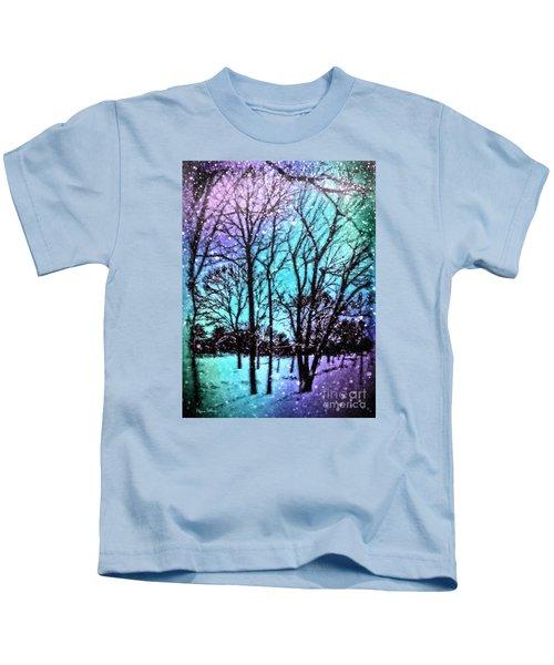 Winter Wonderland Painting Kids T-Shirt