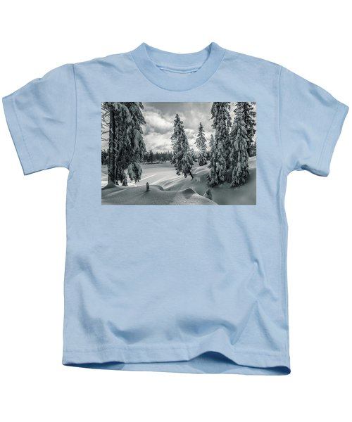 Winter Wonderland Harz In Monochrome Kids T-Shirt