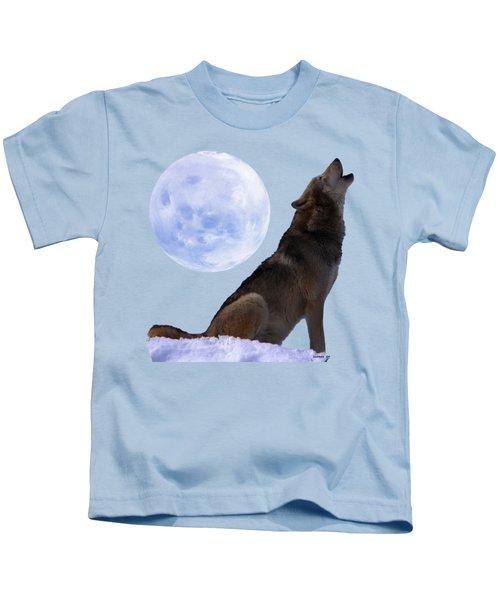 Wolf Howling Kids T-Shirt
