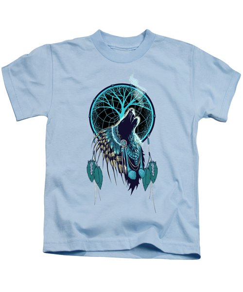 Wolf Indian Shaman Kids T-Shirt