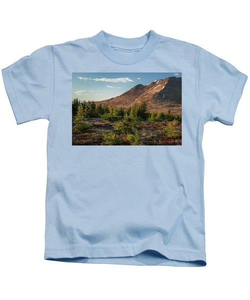 Wolverine Mt Near Sunset Kids T-Shirt
