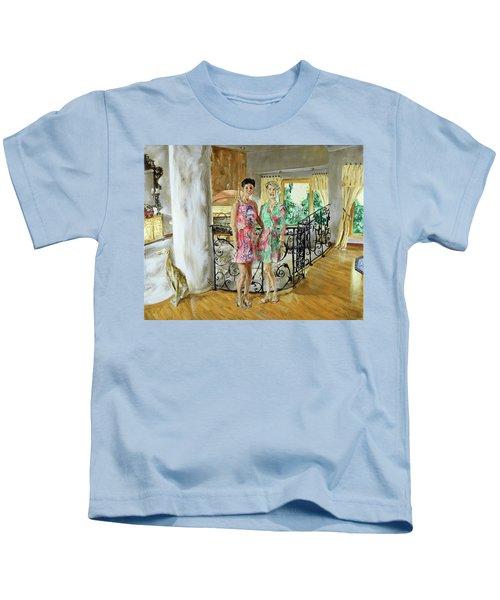 Women In Sunroom Kids T-Shirt