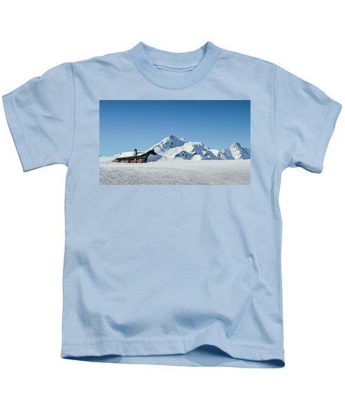 Wooden Alpine Cabin  Kids T-Shirt