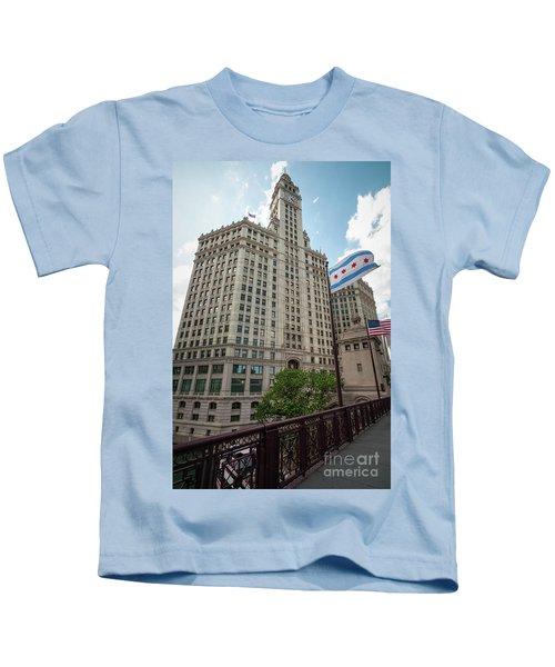Wrigley Building Kids T-Shirt