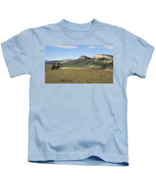 Wyoming Bluffs Kids T-Shirt