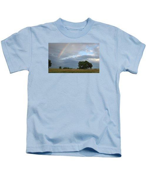 Wyoming Rainbow Kids T-Shirt