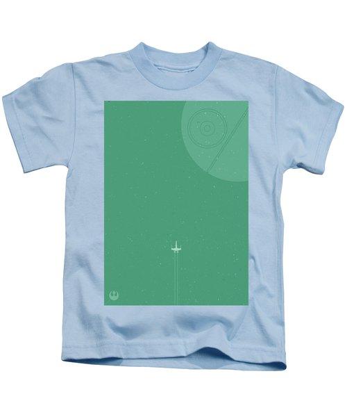X-wing Meets Death Star Kids T-Shirt