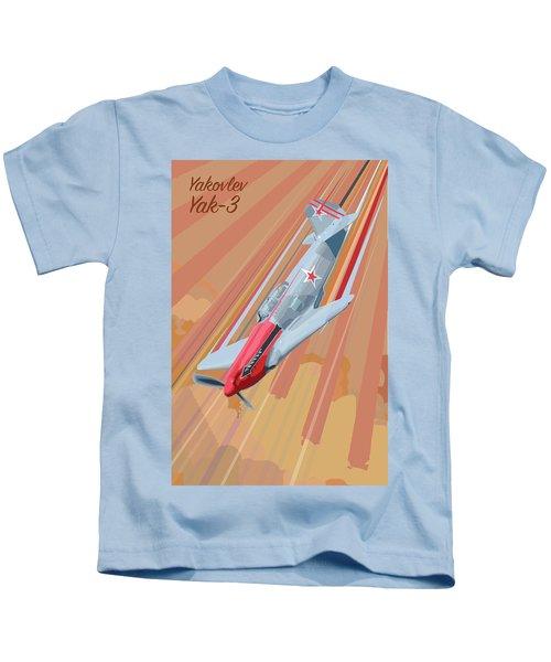 Yakovlev Yak-3 Pop Art Kids T-Shirt