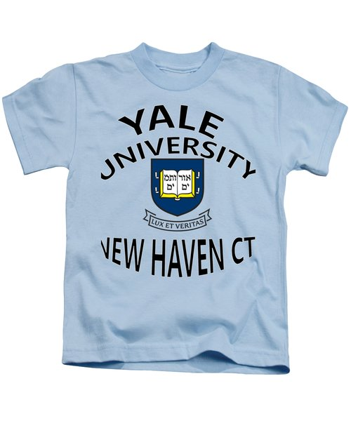 Yale University New Haven Connecticut  Kids T-Shirt by Movie Poster Prints