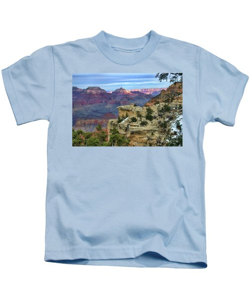 Yavapai Point Sunset Kids T-Shirt