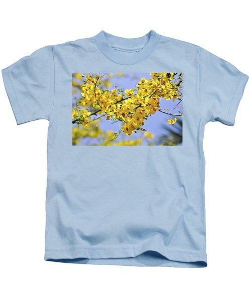 Yellow Blossoms Kids T-Shirt