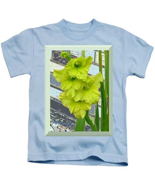 Yellow Gladiolas Kids T-Shirt