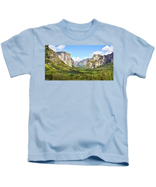 Yosemite Tunnel View Afternoon Kids T-Shirt