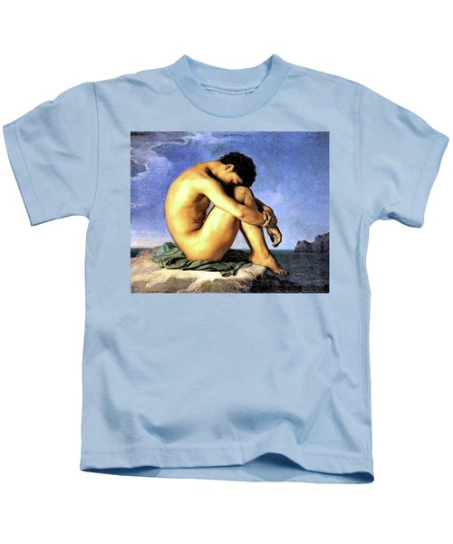 Young Man By The Sea Kids T-Shirt