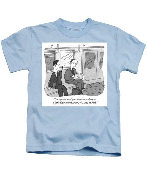 Your Favorite Authors On A Little Illuminated Screen Kids T-Shirt