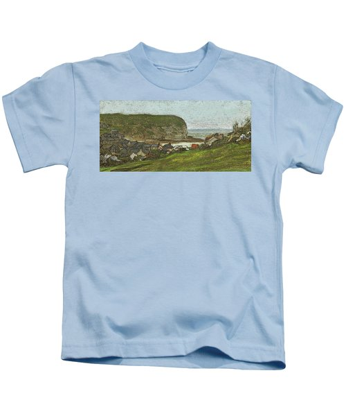 Yport And The Falaise D'aval Kids T-Shirt