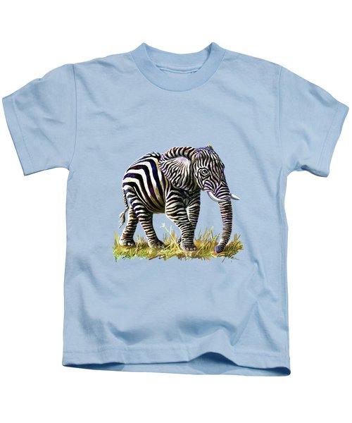 Zebraphant Kids T-Shirt by Anthony Mwangi